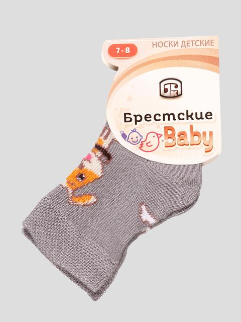 Носки серые с рисунком БЧК 4663708