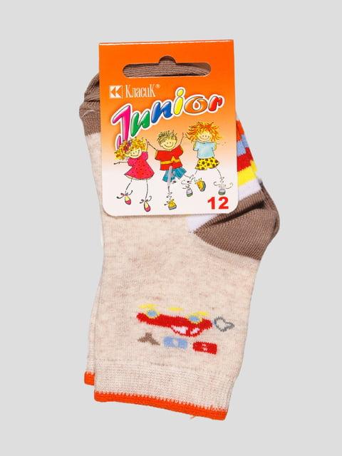 Шкарпетки молочного кольору з малюнком Классик 4448275