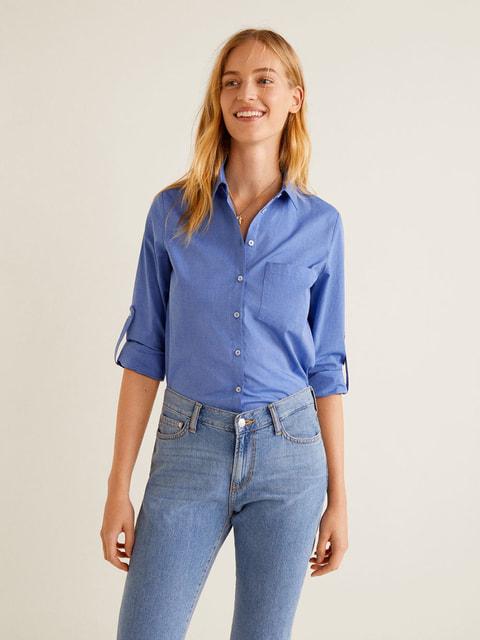 Сорочка блакитна Mango 4575564