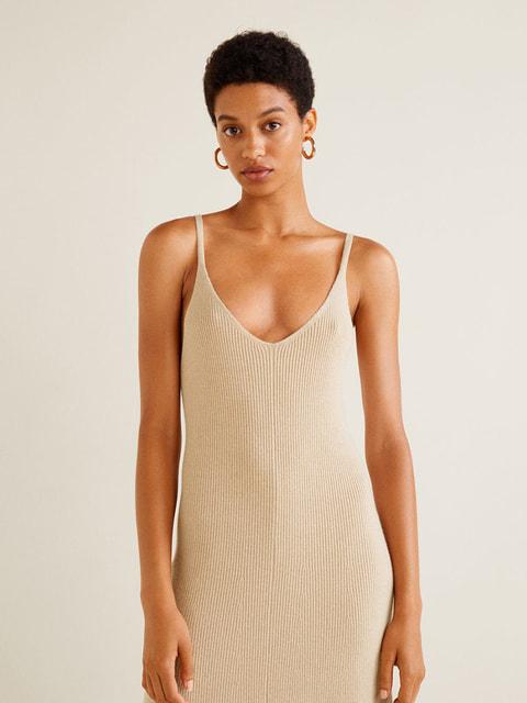 Платье бежевое Mango 4599342