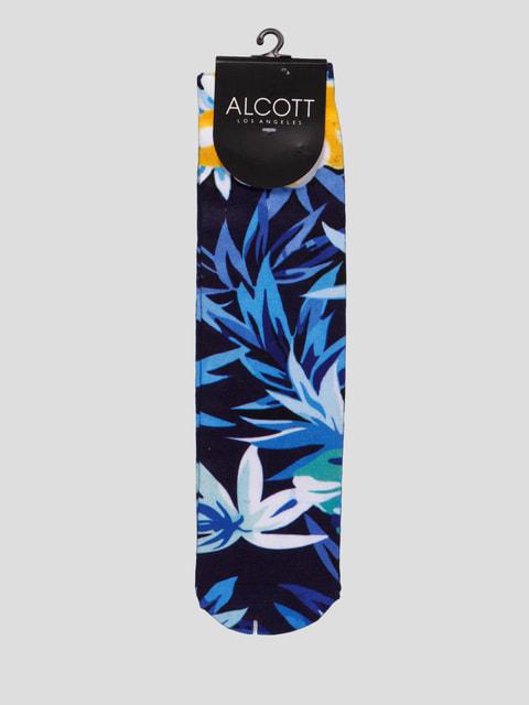 Шкарпетки чорні з принтом Alcott 4627067