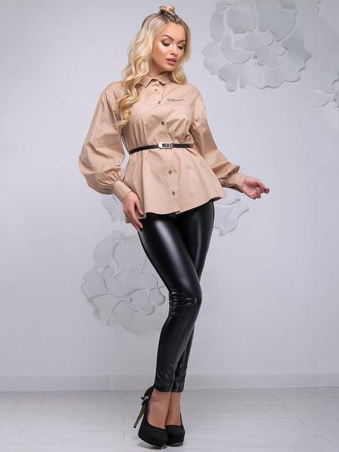 Блуза бежева Seventeen 4621711