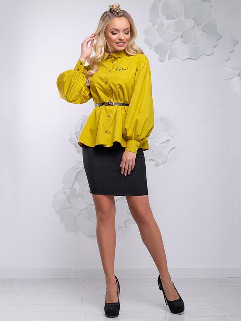 Блуза гірчичного кольору Seventeen 4621712
