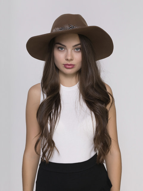 Шляпа коричневая Zara 2750571