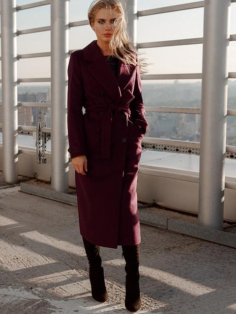 Пальто цвета марсала Gepur 4661768