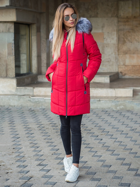 Пальто красное Stella plus 4683485