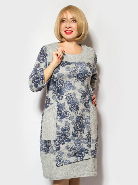 Сукня сіра в квітковий принт LibeAmore 4706861