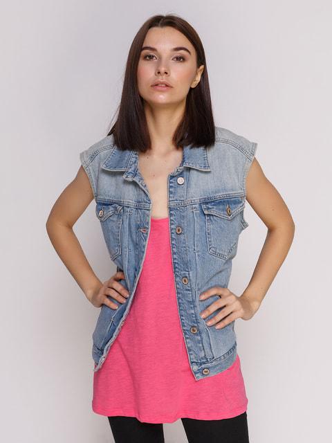 Жилет блакитний Zara 4509767
