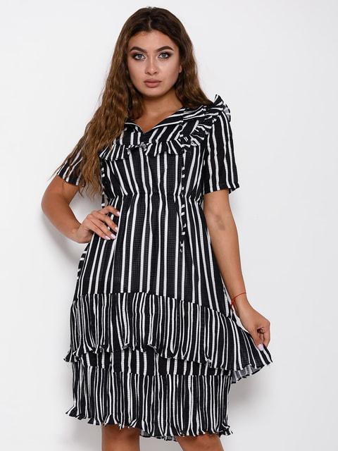 Сукня чорна в смужку Magnet 4641231