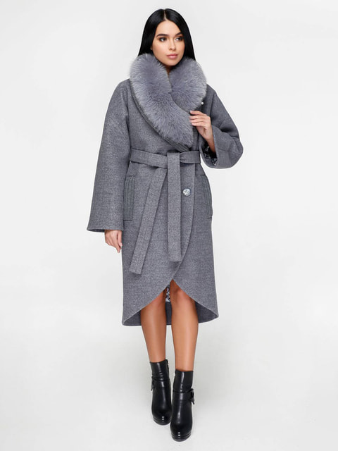 Пальто серое Favoritti 4711654