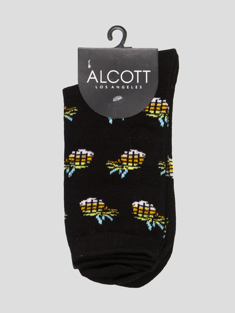 Шкарпетки чорні з принтом Alcott 4627076
