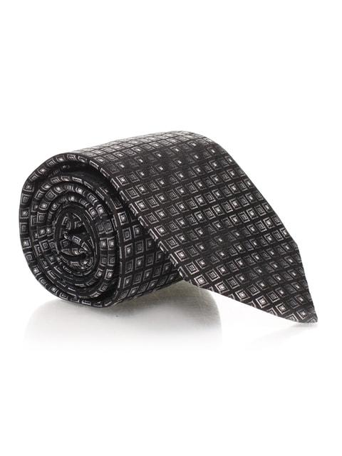 Краватка графітового кольору в малюнок Bershka 4556053