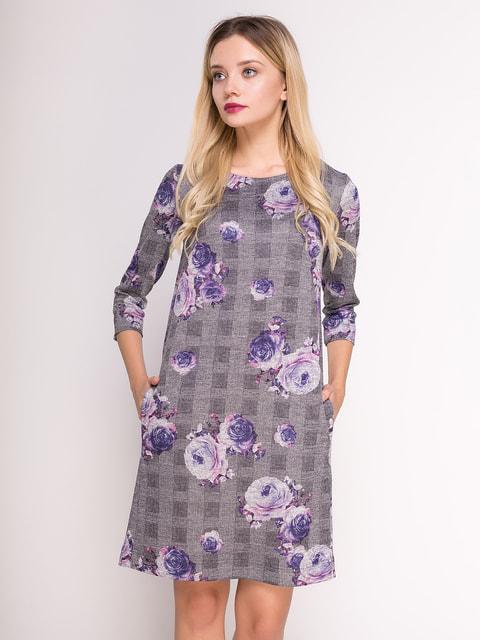 Платье в комбинированный принт Jet 4711052