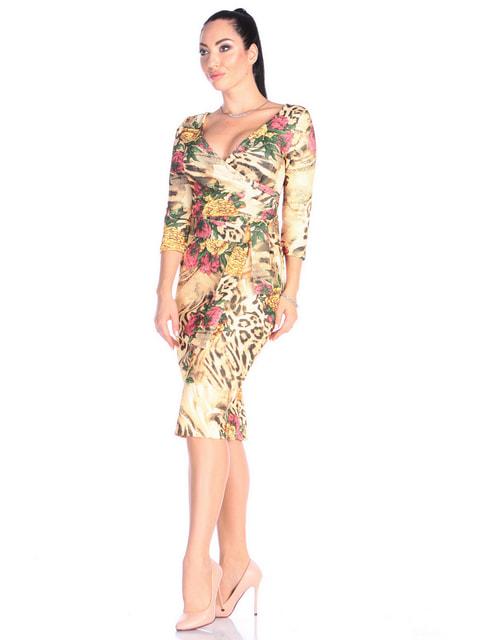 Платье анималистической расцветки Victoria Loks 4697665