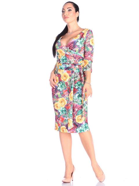 Платье анималистической расцветки Victoria Loks 4697667