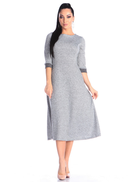 Платье серо-синего цвета Victoria Loks 4706903