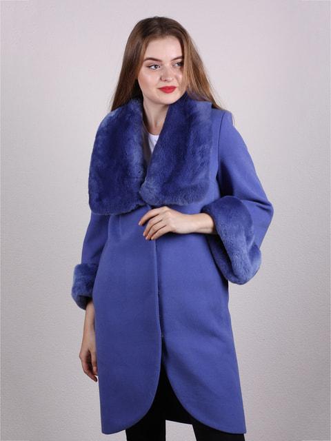 Пальто сиренево-голубое Jakko 4715248