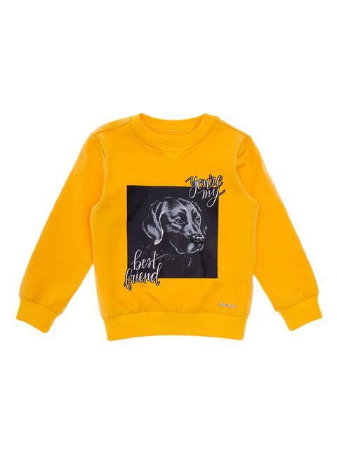 Свитшот желтый с принтом Pinetti 4714265