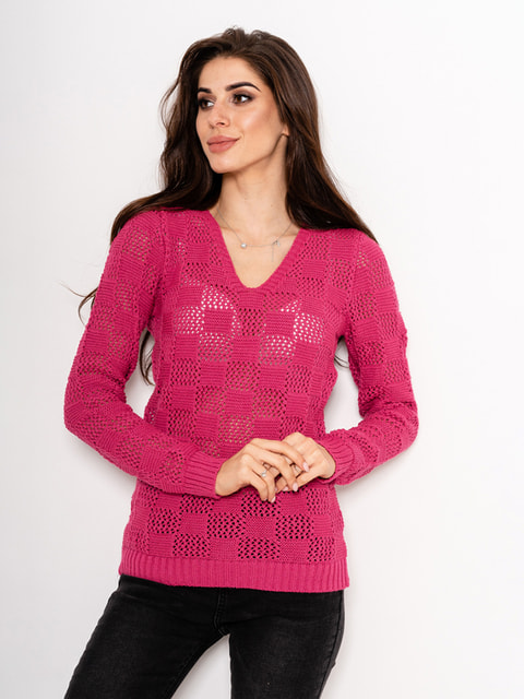 Пуловер малиновий Magnet 4716970