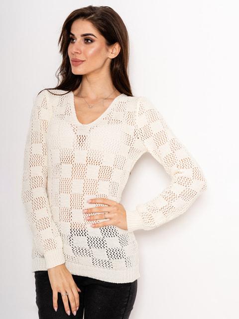 Пуловер молочного кольору Magnet 4716983