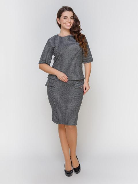 Костюм серый: блуза и юбка Marc Vero Maxxi 4695823