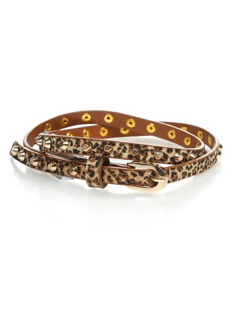 Ремінь у леопардовий принт Alcott 4629359