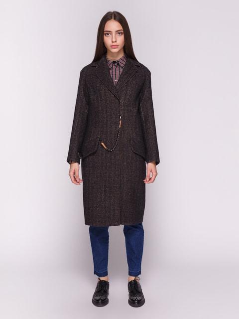 Пальто сине-коричневое Dolcedonna 4692726