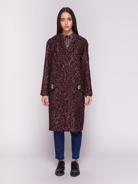 Пальто бордовое Dolcedonna 4714961