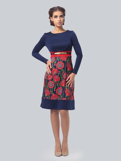 Платье двухцветное с цветочным принтом AGATA WEBERS 4535745