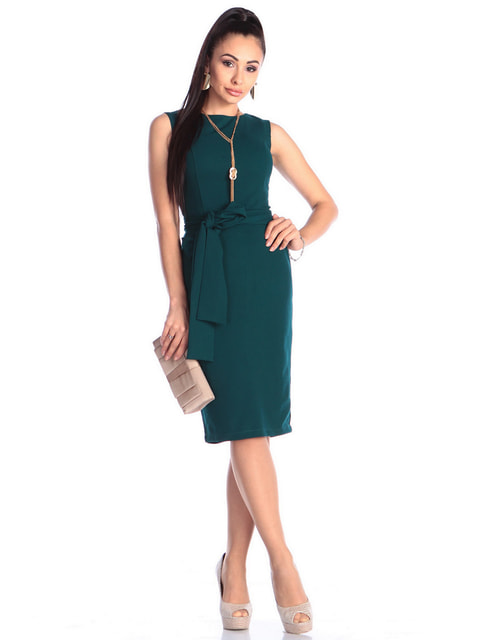 Платье темно-изумрудного цвета Laura Bettini 4723743