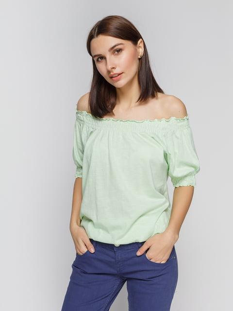 Блуза світло-зелена Alcott 2324388