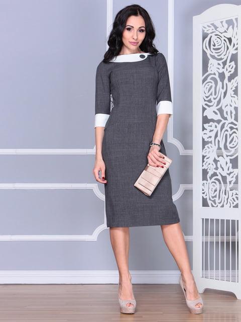 Платье графитового цвета Laura Bettini 4625749
