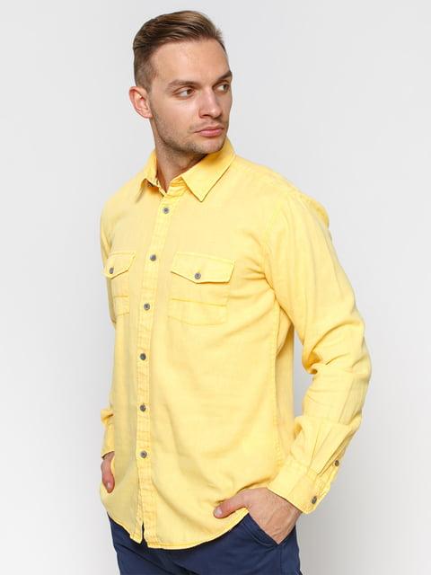 Рубашка желтая Springfield 1899620