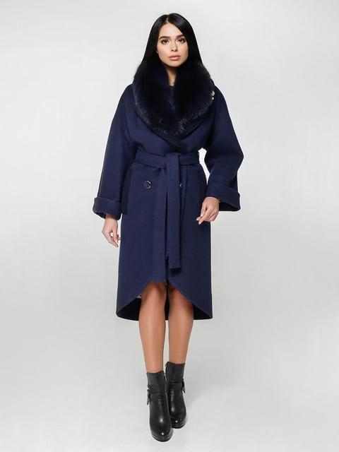 Пальто темно-синее Favoritti 4734401
