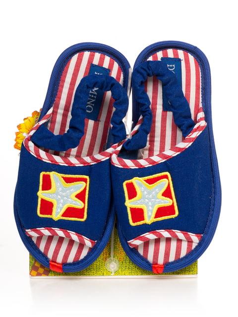 Тапочки сині з малюнком Domino 4708135