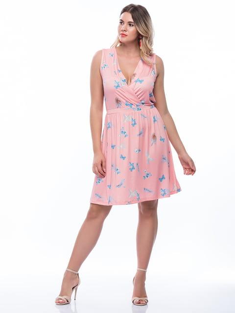 Сукня рожева з принтом MONARCHIE 4736253
