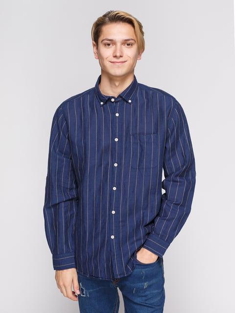 Сорочка синя в смужку Springfield 3010380