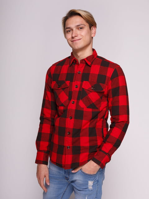 Рубашка красная в клетку Springfield 3009819