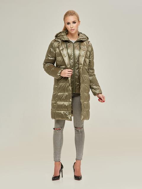 Куртка оливкового кольору Mila Nova 4738769