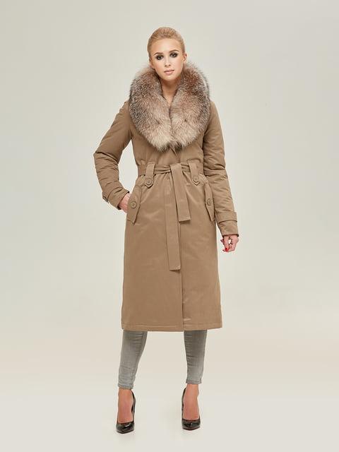 Пальто кольору капучино Mila Nova 4738776