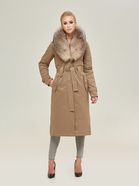 Пальто цвета капучино Mila Nova 4738776