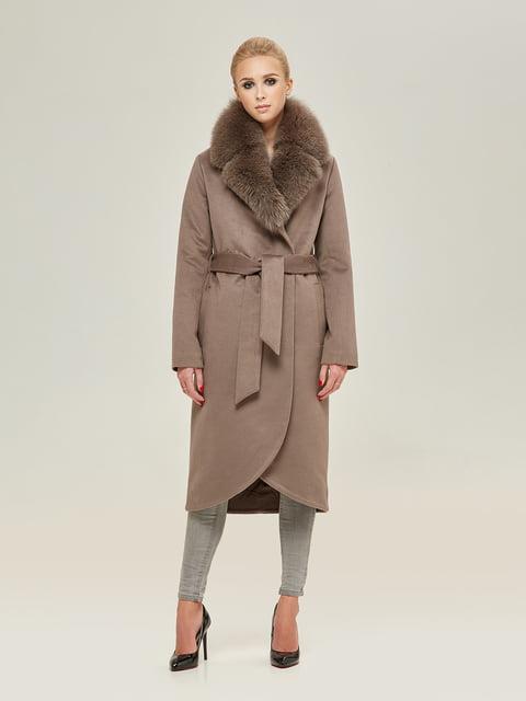 Пальто цвета капучино Mila Nova 4738785
