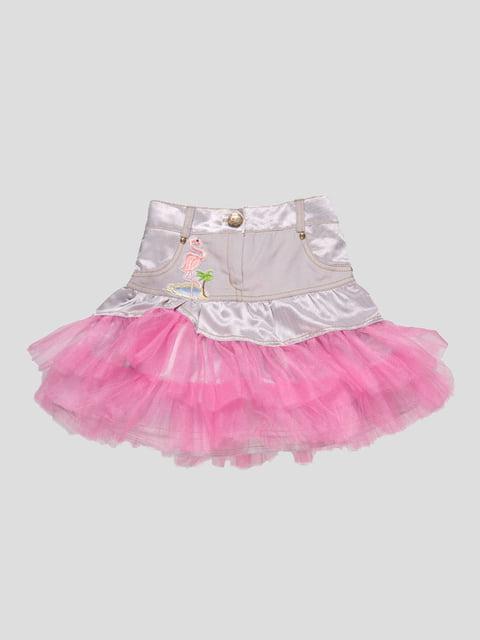 Юбка серо-розовая Lider Class 4740882