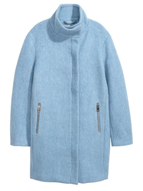 Пальто голубое H&M 4733550
