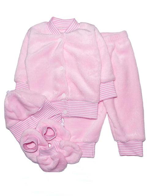 Комплект: кофта, брюки, шапка, пинетки и царапки Малыш 4762769