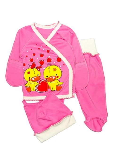 Комплект: сорочечка, повзунки і шапочка Малыш 4762823