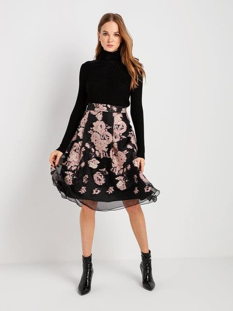 Юбка черная в цветочный принт BGN 4762927