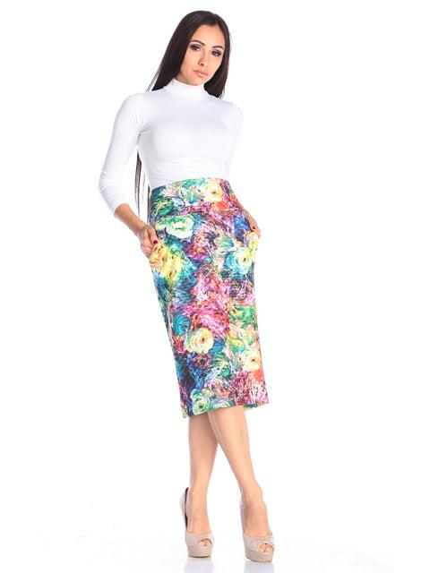 Спідниця в квітковий принт Laura Bettini 4765729