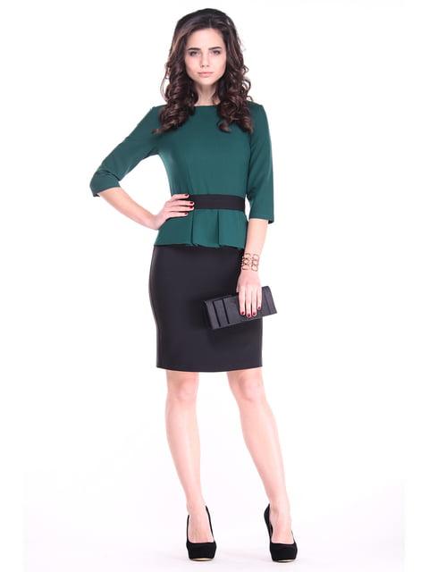 Платье темно-изумрудного цвета с черным Dioni 4766788