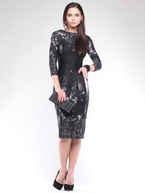 Платье в принт с воротником Maurini 4767279